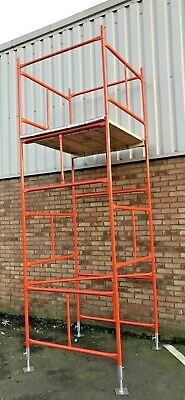 SCAFFOLD TOWER 4' X 4'   DIY   19'6ft WORKING HEIGHT, PPC SAFETY ORANGE TOWERS