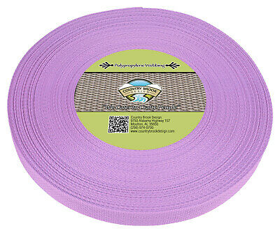 Country Brook Design® 1 Inch Lavender Polypro Webbing, 25 Yards