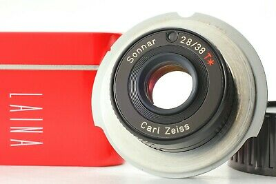【TOP MINT】 Carl Zeiss Sonnar 38mm f2.8 Converted to Leica M Mount Contax T T2