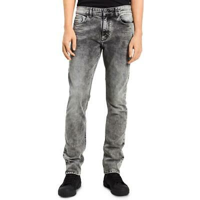 Calvin Klein Jeans Mens Gray Denim Faded Stretch Skinny Jeans 29/30 BHFO 9179
