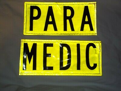 Reflexite Yellow 2 part Sew On Patches PARAMEDIC PARA MEDIC