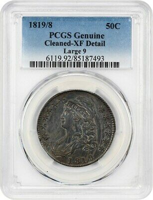 1819/8 50c PCGS XF Details (Large 9, Cleaned) - Bust Half Dollar