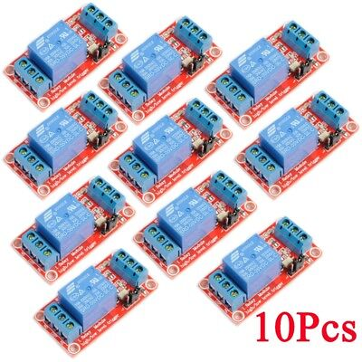 10Pcs 1-Channel Relay 5V Module High Low Level Trigger With Optocoupler Arduino