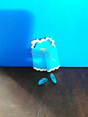 VINTAGE TOPPERGLORI/'S AQUA MINI WITH WHITE /& GOLD TRIM  LOT 11-11-3