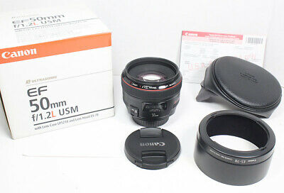 CANON EF 50mm L F/1.2 USM Lens for EOS 1Dx 1D 1Ds 7D 5D II III IV 60D 70D 6D etc