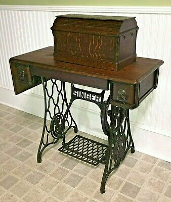 Antique 1910 Singer Sewing Machine - Treadle - Scotland - F2313991 - FREE Ship