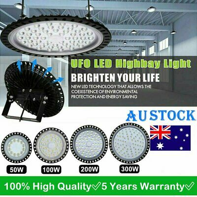 100/200/300/500W UFO LED High Bay Light Commercial Industrial Shed Factory Lamp