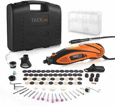 Tacklife Multi-Functional Rotary Tool Kit with 80 Accessories and 4 Attachments