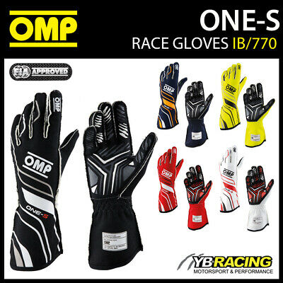 Ib/770 Omp Racing One-S Professional Race Rally Gloves Fireproof Fia 8856-2018
