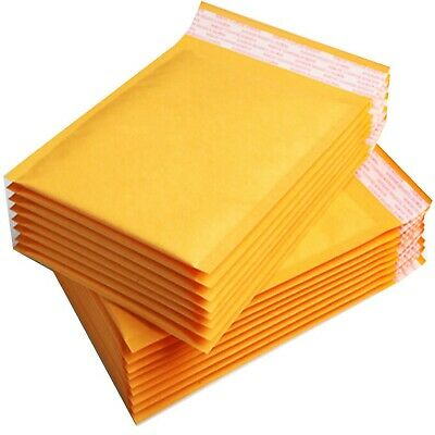 100 Small Gold Padded, Bubble Lined Envelopes MAIL Cheap Brown Yellow 110x165mm