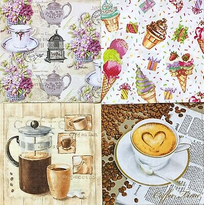 4 x Single Paper Napkins Kettles Decoupage and Crafting 97