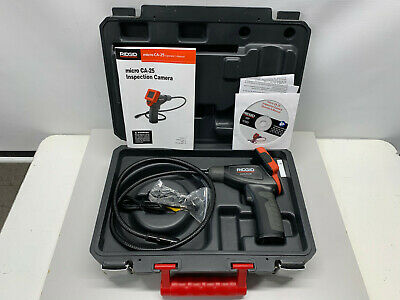 """RIDGID Micro CA-25 Hand-Held Inspection Camera 4 ft Cable Reach, 2.7"""" Screen"""