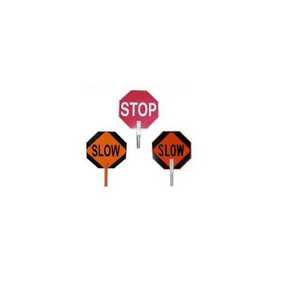 Pro-Line Traffic Safety 18inch Paddle Sign - Stop/slow - PS01