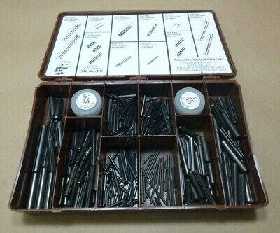 "(300 Pcs) Masterkit 300-10 Assorted Roll Pins Kit 1/16"" To 3/8"" Carbon Steel Usa"