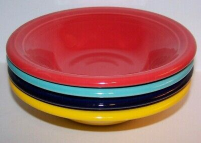 New Fiestaware Set Of 4 Mixed Colors  Stacking Cereal Bowls Fiesta