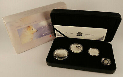 2004 Canada ARCTIC FOX Fractional (1, 1/2, 1/4, 1/10 oz) Proof Silver Coin Set