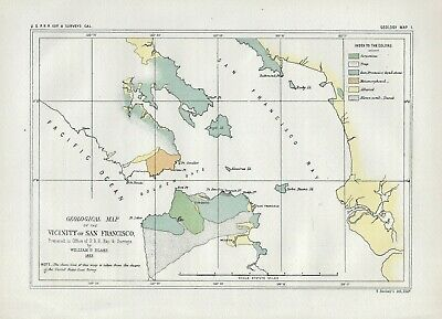 "1853 (1856) ""Geological Map of the Vicinity of San Francisco"""