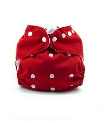 Kissa's AIO Red Unisex Onesize Cloth Diapers