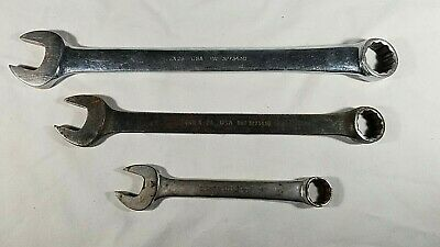 "SNAP-ON 3pc. SET OEX28 7/8""  GOEX24 3/4""  OEX-200 5/8''  12-Point SAE Wrenches"