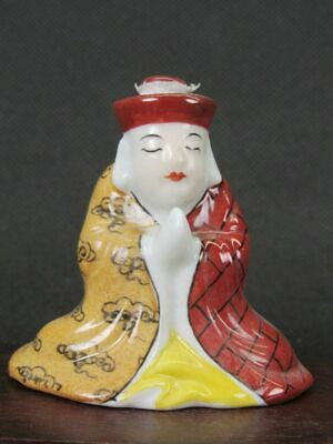 Chinese Tang Seng Shape Hand Painted Porcelain Snuff Bottle