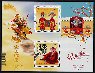 Canada new issue MNH Year of the Pig, Year of the Rat