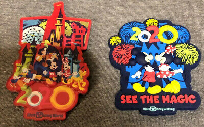 Disney Parks Mickey Minnie Park Icons 2 2020 Rubber/Acrylic Magnets