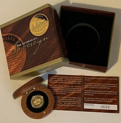 2010 - Perth Mint - $25 Proof Gold Sovereign - Limited Mintage - #0699 0F 2500