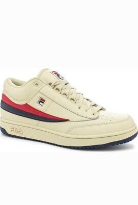 Vintage FILA T-1 Mid Cream Navy Red Sneakers size 13