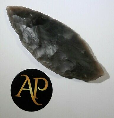 Rare English Neolithic Flint Spear Head Complete – Northern Cambridgeshire