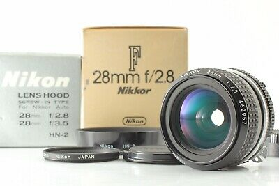 [Almost Mint in Box] Nikon Ai Nikkor 28mm f/2.8 w/Hood HN-2, Filter from Japan