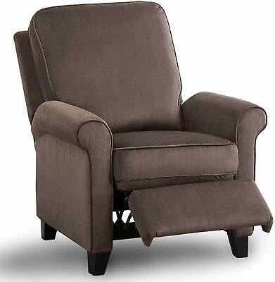 Push Back Recliner Chair Single Living Room Roll Arm Recliner With Back Cushion