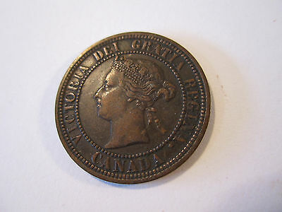 Nice High Grade 1882 H Canadian Canada Copper Large Cent Coin One Cent *9640