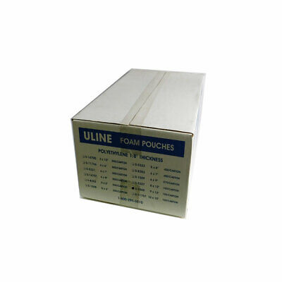 "Box 150 Uline S-1560 9"" x 12"" Polyethylene Foam Pouch Shipping Packing Wrap Bag"