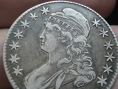 1827/6 Capped Bust Half Dollar- 7 over 6 Overdate, XF Details- Die Cracks