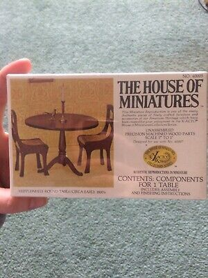 The House of  Miniatures Hepplewhite Round Table/ Circa Early 1800s Kit 40005