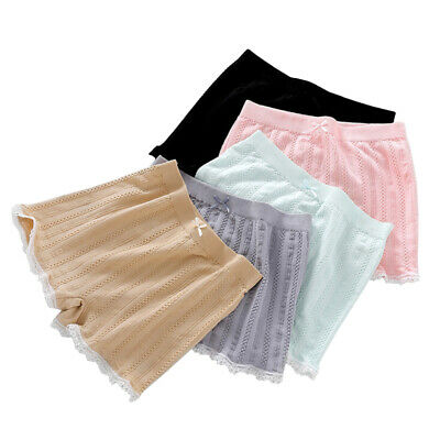 2019 Womens Elastic Safety Seamless Shorts Lace Splice Shorts Under Pants Hot