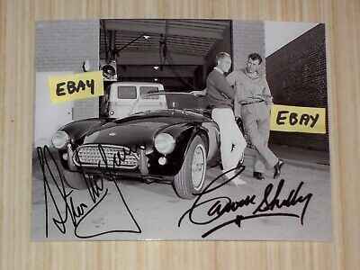 4X5 Vintage Photo Carroll Shelby & Steve McQueen With AC Cobra With Autographs