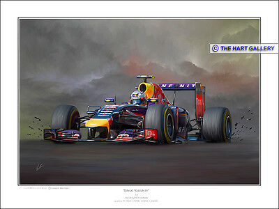 Daniel Ricciardo Formula One F1 Car Print Painting Picture Signed Ltd. Edition