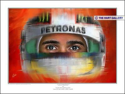 Lewis Hamilton Formula One F1 Limited Edition Print Picture Signed By Artist