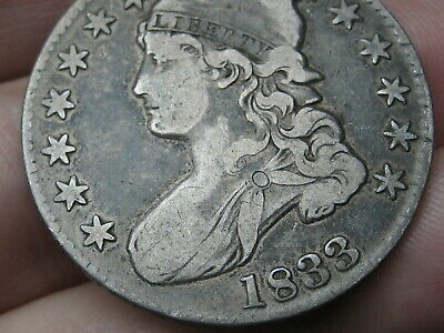 1833 Capped Bust Half Dollar- VF/XF Details