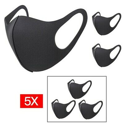 Unisex Mens Womens Teamlife Quilting Rider Mouth Anti-Dust Flu Face Mask Black