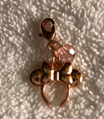 Disney Parks Charmed In The Park Rose Gold Minnie Mouse Headband Charm
