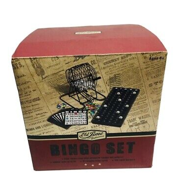 Old time Collection Bingo Set Steel Rotary Cage With Automatic Random Ball