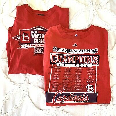 2011 World Series Champions St Louis Cardinals Bumper Sticker Decal 10x3 Size