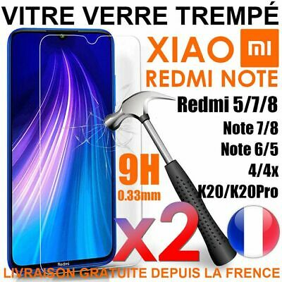 Vitre Verre Trempe Film Protection Xiaomi Redmi Note 8 Pro/8T/Note 7/6/5/4X
