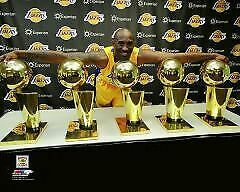 Los Angeles Lakers Kobe Bryant  16x20 Photo Poster Picture NBA MVP 5 Trophies