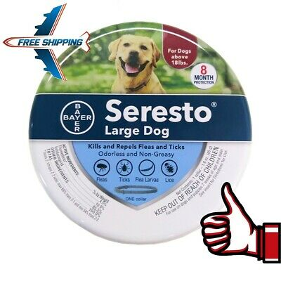 Bayer Seresto Flea and Tick Collar for Large Dog,8 Month Protection New Look