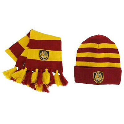 Officially Licensed Harry Potter Hogwarts High Quality Knit Hat & Scarf Set