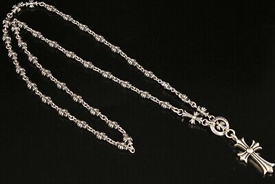 Rare Chinese 925 Silver Genuine Silver Sterling Silver Necklace Cross Collection