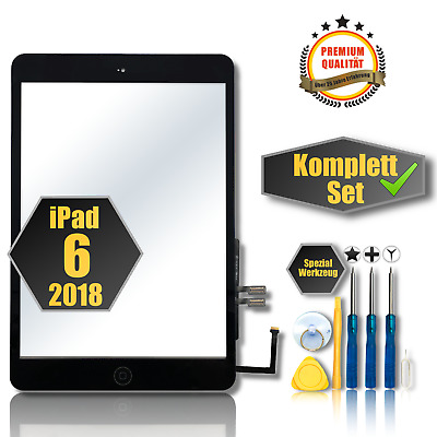 Für iPad 6 Generation 2018 A1893 A1954 Touchscreen Digitizer Displayglas +Button